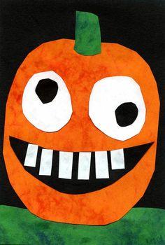 Silly Halloween Pumpkin · Art Projects for Kids Halloween Art Projects, Theme Halloween, Halloween Arts And Crafts, Fall Art Projects, Halloween Crafts For Kids, Halloween Activities, Projects For Kids, Halloween Bedroom, Halloween Witches