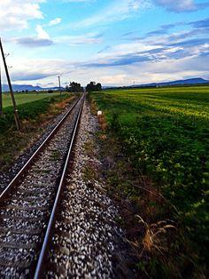 Railroad in South Slovakia