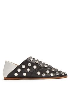 Click here to buy Acne Studios Mika rhinestone-embellished slipper shoes at MATCHESFASHION.COM