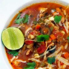 Mexican vegetable Soup@MyKitchenMoovement