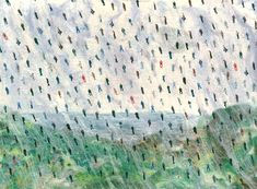 'It's Raining Men' - click here to see an enlarged detail (contemporary semi-abstract fiber art by textile artist Mary-Clare Buckle)