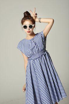 Open Back Checker Dress