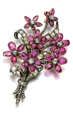 Ruby and diamond brooch, early 19th century sothebys.com