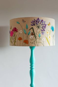 Large 'Meadow Flowers' Lampshade by Lara Sparks Embroidery, the perfect gift for Explore more unique gifts in our curated marketplace. Meadow Flowers, Diy Flowers, Free Machine Embroidery Designs, Room Wall Decor, Diy Craft Projects, Home Crafts, Fabric Crafts, Painted Lampshade, Floral Lampshade