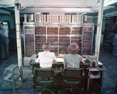 One of the first computers, the 'MANIAC' , at Los Alamos National Laboratory c.1952