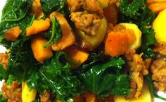 Buttercup Squash Mash with Kale, Parsnips, and Italian Sausage