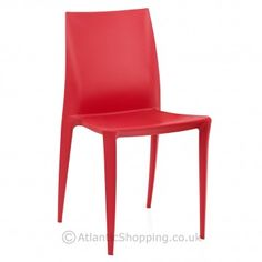 Stylishly stackable, our Marquis Dining Chair Red will work beautifully as extra seating for a Valentine's party.