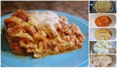 Super easy and delicious Crock pot Lasagna! ... via The Jones Way Blog