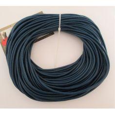 Cordón cuero azul oscuro 3 mm.
