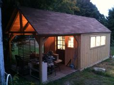 I made my wife a studio for her soap business. it originally was an old tar paper shack.