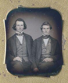 Vintage-Daguerreotype-Two Gentleman: