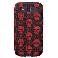 =>>Save on          	Red and Black Sugar Skull Pattern Samsung Galaxy SIII Covers           	Red and Black Sugar Skull Pattern Samsung Galaxy SIII Covers today price drop and special promotion. Get The best buyShopping          	Red and Black Sugar Skull Pattern Samsung Galaxy SIII Covers Revi...Cleck Hot Deals >>> http://www.zazzle.com/red_and_black_sugar_skull_pattern_case-179957301117023294?rf=238627982471231924&zbar=1&tc=terrest