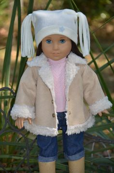 American Girl Doll Jacket and Hat . by Symidollsclothes on Etsy