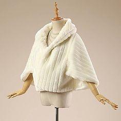 Wedding Faux Fur Coats/Jackets 3/4-Length Sleeve Fur Wraps 2016 – $27.99