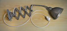 Vtg-midcentury-Original-Industrial-lighting-Scissor-Accordion-Sconce-Light-lamp