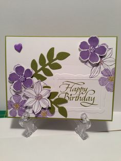 stampin up easter cards using secret garden | Share