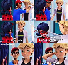 Ohmygawd I never saw Adrien blush...