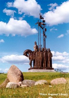 Andrew's been here! Alexander Nevsky Monument ~ Pskov, Russia