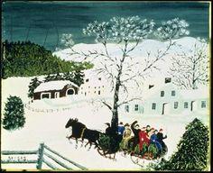 """Anna Mary Robertson """"Grandma"""" Moses: Winter Scene. - Google Search"""