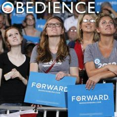 Obedience.  They follow their dear leader so well.