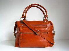 leather handbag zip tote by the leather store | notonthehighstreet.com