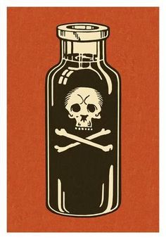 Art Print: Bottle of Poison Art Print by Pop Ink - CSA Images : 24x16in