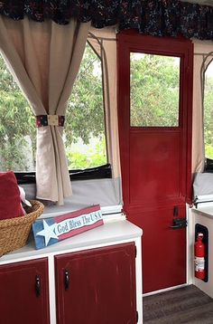 How to paint your camper door  Pop up camper remodel                                                                                                                                                                                 More