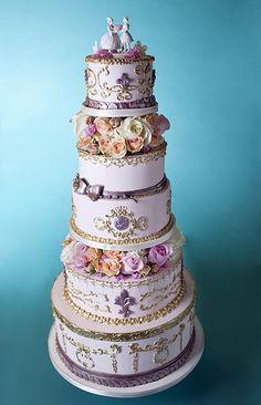 Marie Antoinette cake~ opulent detail~via google- Cake Coquette, San Francisco