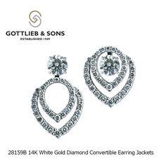 Solitaire Earrings, Diamond Earrings, Stud Earrings, Diamond Earring Jackets, Wedding Jewelry, Wedding Rings, White Gold Diamonds, Round Diamonds, Designer Earrings