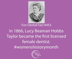 #womenshistorymonth fun fact from East Madison Dental! Our fun dental facts are guaranteed to make you smarter! #themoreyouknow #dentalcare #dental #dentalhumor #dentaltips #oralhealth #oralcare