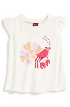 Tea Collection 'Kerala' Graphic Print Cotton Tee (Baby Girls) available at #Nordstrom