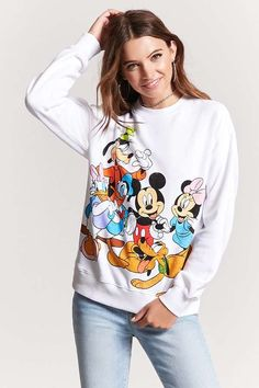 FOREVER 21 Disney Graphic Sweatshirt    teen  teenage  fashion  style  vacation  beach  college  summer + spring  womens  outfits  casual  romper  first day  school  fall + winter          Disclosure: Please note the  link is an affiliate link  which means-at zero cost to you-I might  earn a commission if you buy  something through my links.
