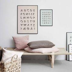 Vissevasse print Alfabet mint