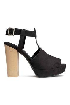 Sandálias salto compensado | H&M