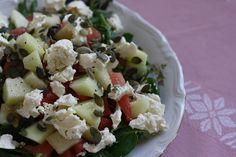 Salat med melon og feta
