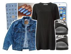 """Untitled #48"" by desirenelle ❤ liked on Polyvore featuring MCM, Levi's, NIKE and T By Alexander Wang"