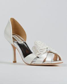 Vita Open Toe Bow D'Orsay Shoes $75 sale