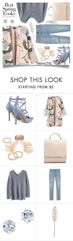 """""""Newchic"""" by jiabao-krohn ❤ liked on Polyvore featuring Valentino, H&M, Yves Saint Laurent, Laura Cole, Spring, floral and PolyPower"""
