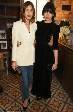 Fashionable friends: Both Alexa Chung and Daisy Lowe were at the top of their style game as they attended the The Fashion Awards nominees' lunch, on Sunday