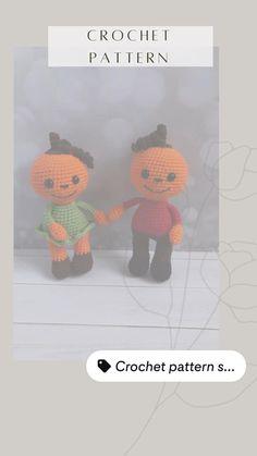 Halloween Crochet Patterns, Crochet Toys Patterns, Amigurumi Patterns, Learn To Crochet, Diy Crochet, Crochet Ideas, Softie Pattern, Stuffed Animal Patterns, Crochet For Beginners