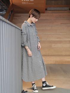 Mode Style, Asian Fashion, Shirt Dress, How To Wear, Hair, Shirts, Dresses, Closet, Vestidos