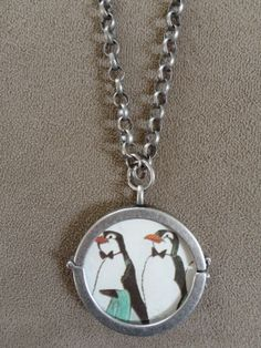 Vintage 1964 Mary Poppins Penguins Pendant with by TicketTrinkets, $30.00