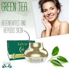 After a long day, we're happy when our head finally hits the pillow and we can recharge our batteries. The trials and tribulations of the day are also felt on your skin, though. While we can #relax at night, this is when our skin does most of its repairing and regenerating. Do you want to  help this process? #LeSoie #nightcream with #greentea extract is the perfect choice.