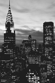 The Chrysler Building at night