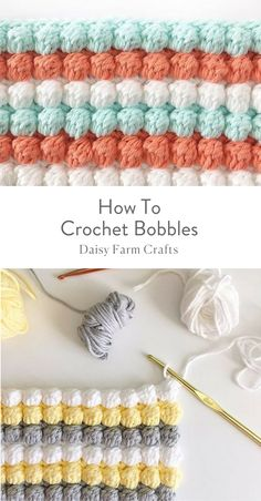 If you're ready to give crochet a try, we've got you covered. We've found 18 easy crochet stitches you can use for any project to get you started. Once you've learned a few basic stitches, you can tackle any simple crochet projects with ease. Beau Crochet, Bobble Crochet, Crochet Diy, Crochet Basics, Crochet For Beginners, Crochet Crafts, Crochet Projects, Flower Crochet, Puff Stitch Crochet
