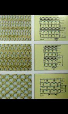 Luftige Haekelmuster----Crochet pattern