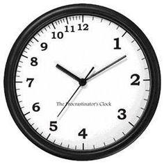 procrastinator's clock