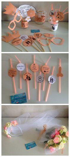Bachelorette, bachelor party, ideas, peach colour, photobooth/ addio al nubilato idee