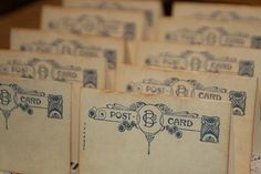 50  Wedding Place Cards  Vintage Post Cards by GreenAcresCottage, $30.00