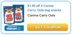 $1.00 off 4 Canine Carry Outs dog snacks